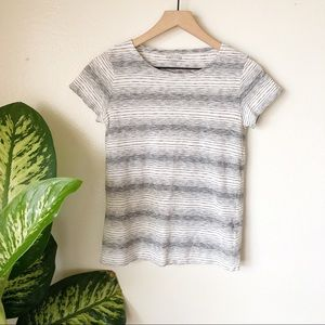 Eileen Fisher   Striped Recycled Cotton Tee